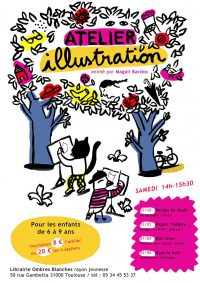 Atelier illustration à Ombres Blanches / © Magali Bardos