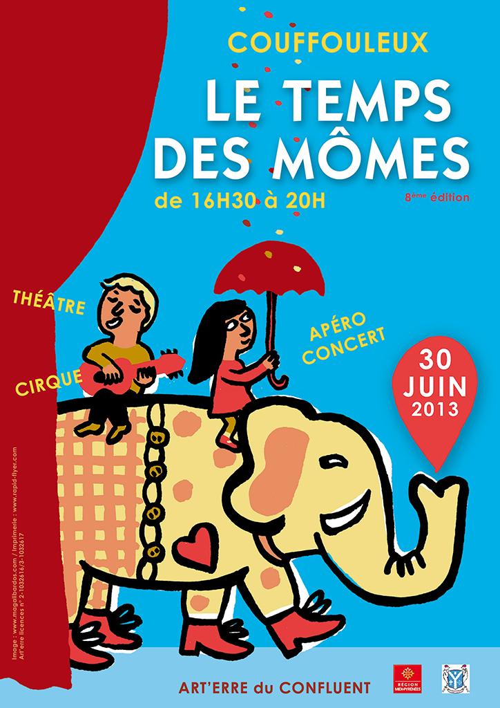 Affiche Le temps des momes / © Magali Bardos