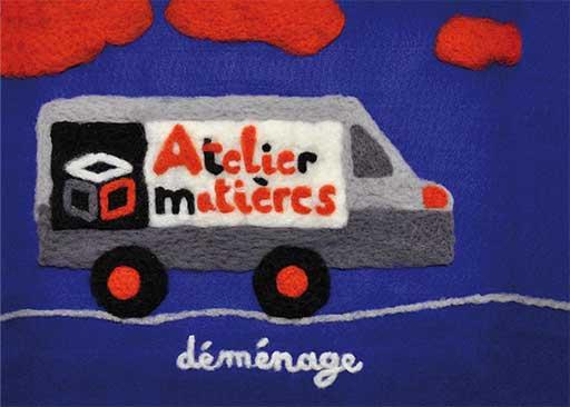 Atelier matieres - illustration textile/ © Magali Bardos
