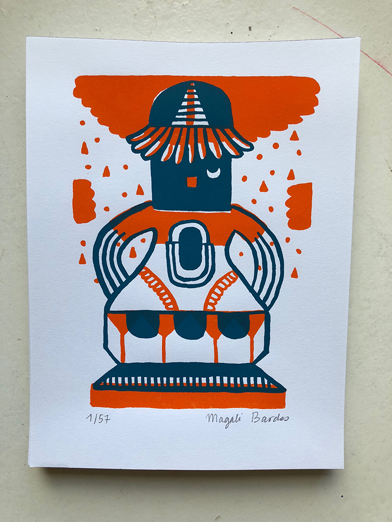 Serigraphie Magali Bardos Petit Totem N°01 / © DR