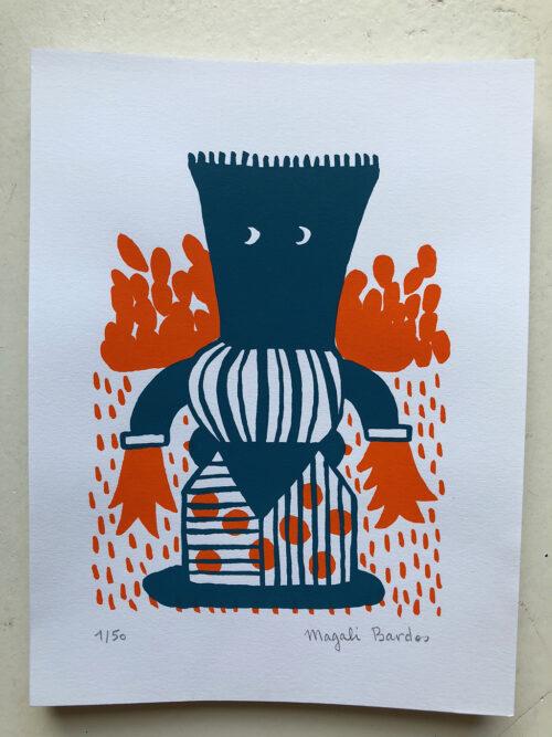 Serigraphie Magali Bardos Petit Totem N°02 / © DR