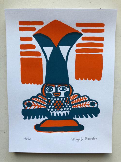 Serigraphie Magali Bardos Petit Totem N°03 / © DR