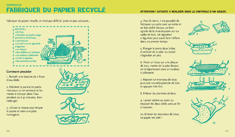 écologie & environnement Magali Bardos Catherine Stern documentaire actes sud junior expériences activités jeux fabriquer du papier recyclé