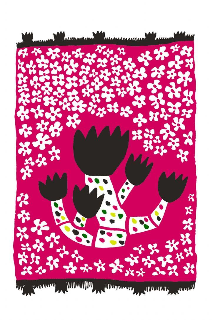 Mirette Affiches pour bébé sur le thème des fleurs développement de la vision de bébé à partir de 3 mois jardinier tapis de fleurs