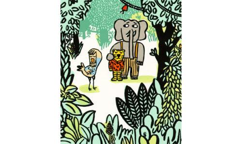 On est foutus ©Magali Bardos Illustration gouache L'école des loisirs Pastel