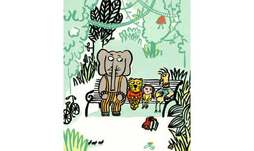 On est foutus © Magali Bardos Illustration gouache L'école des loisirs Pastel